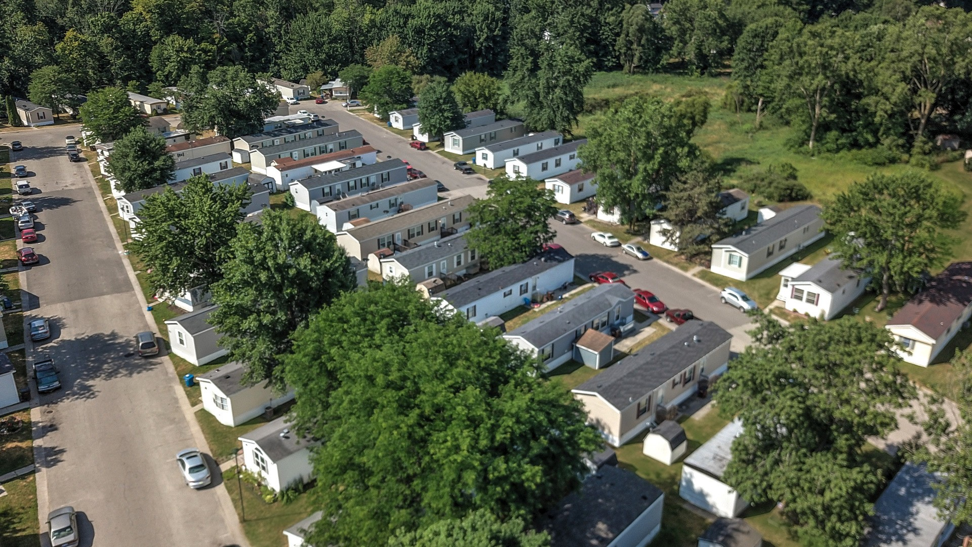 Byron Center Manufactured Homes Community Aerial View in Byron Center, MI