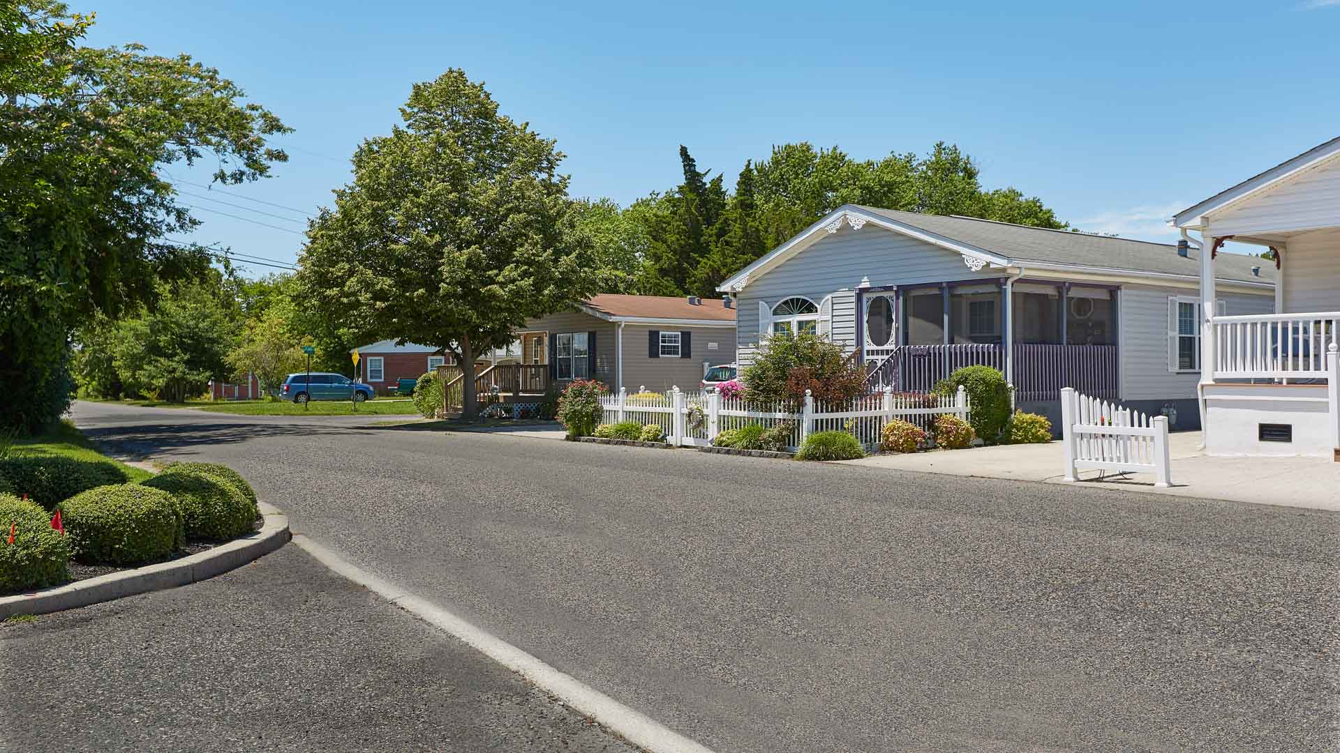 Cape May Crossing 55+ Manufactured Homes Community Street View in Cape May, NJ