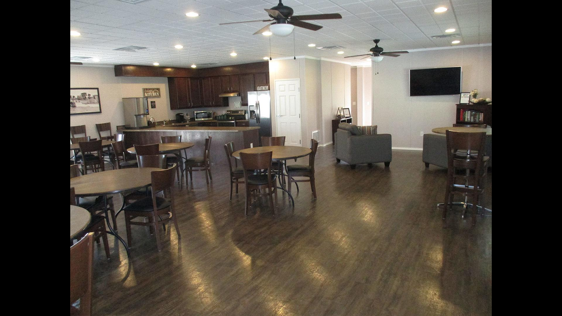 Comal Farms Manufactured Homes Community Clubhouse Interior in New Braunfels, TX