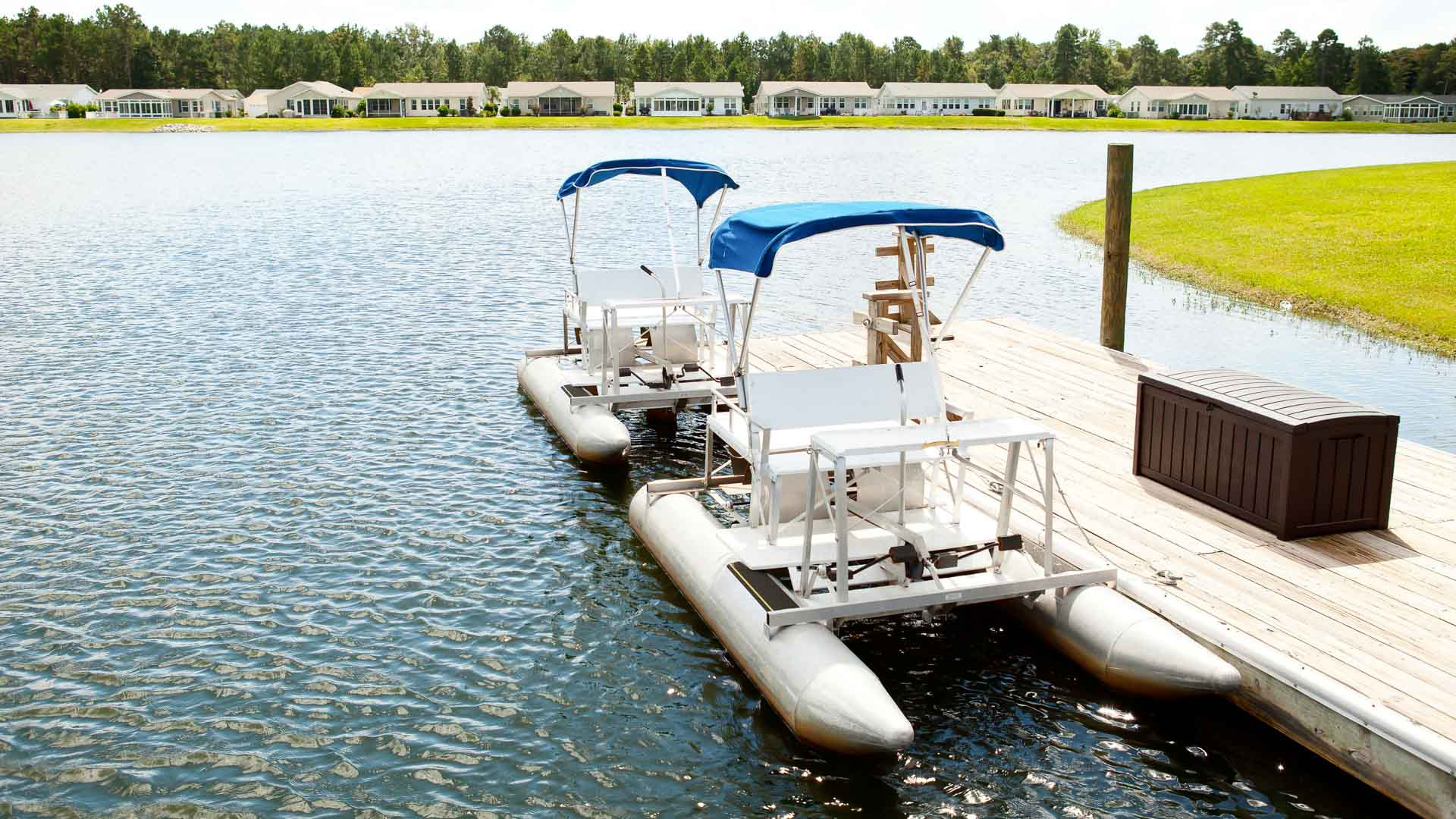 Lakeside Crossing 55+ Manufactured Homes Community Pedal Pontoons in Conway, SC