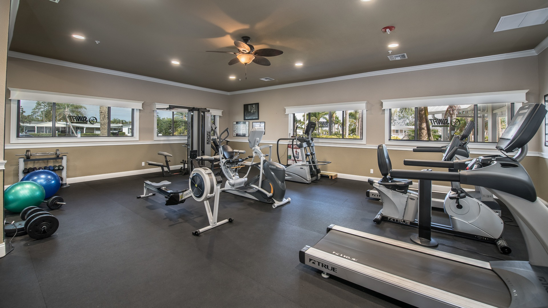 Park Place 55+ Manufactured Homes Community Fitness Center in Sebastian, FL