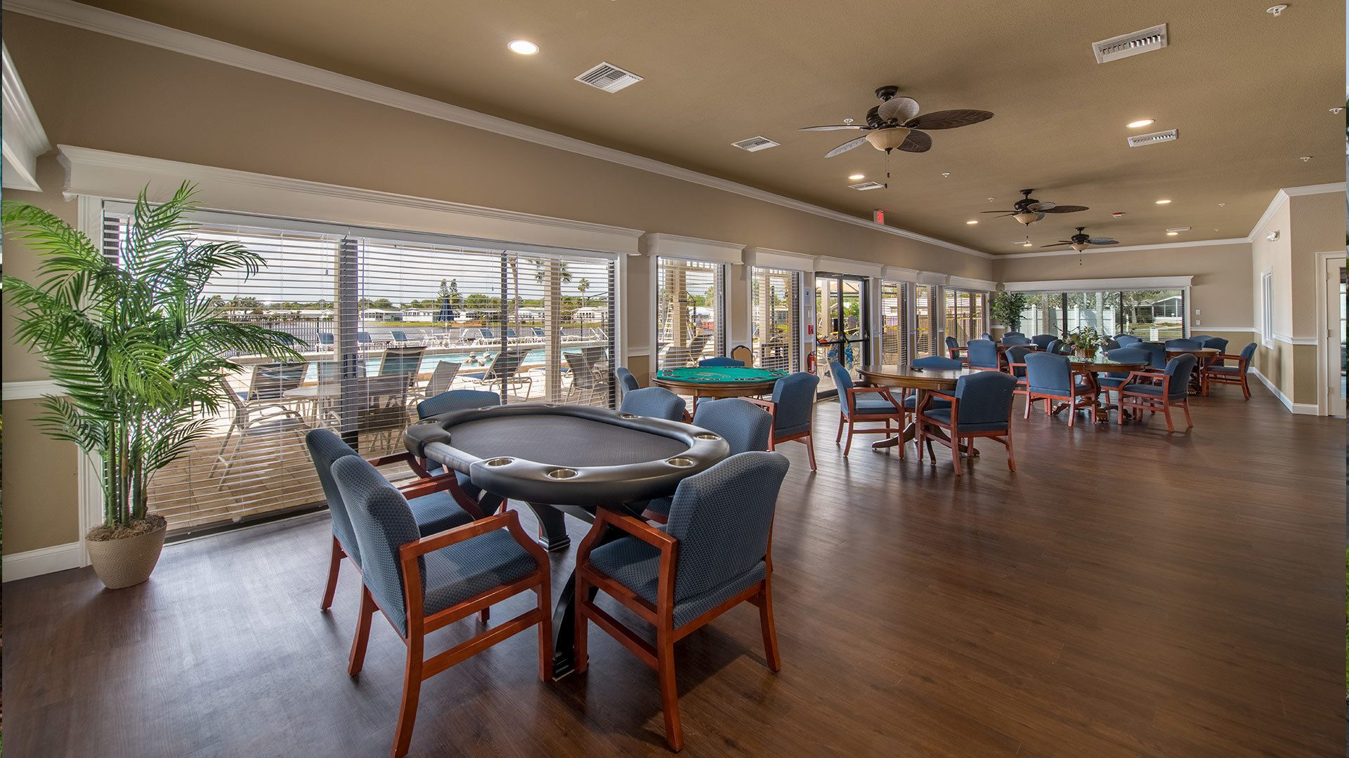 Park Place 55+ Manufactured Homes Community Game Room in Sebastian, FL