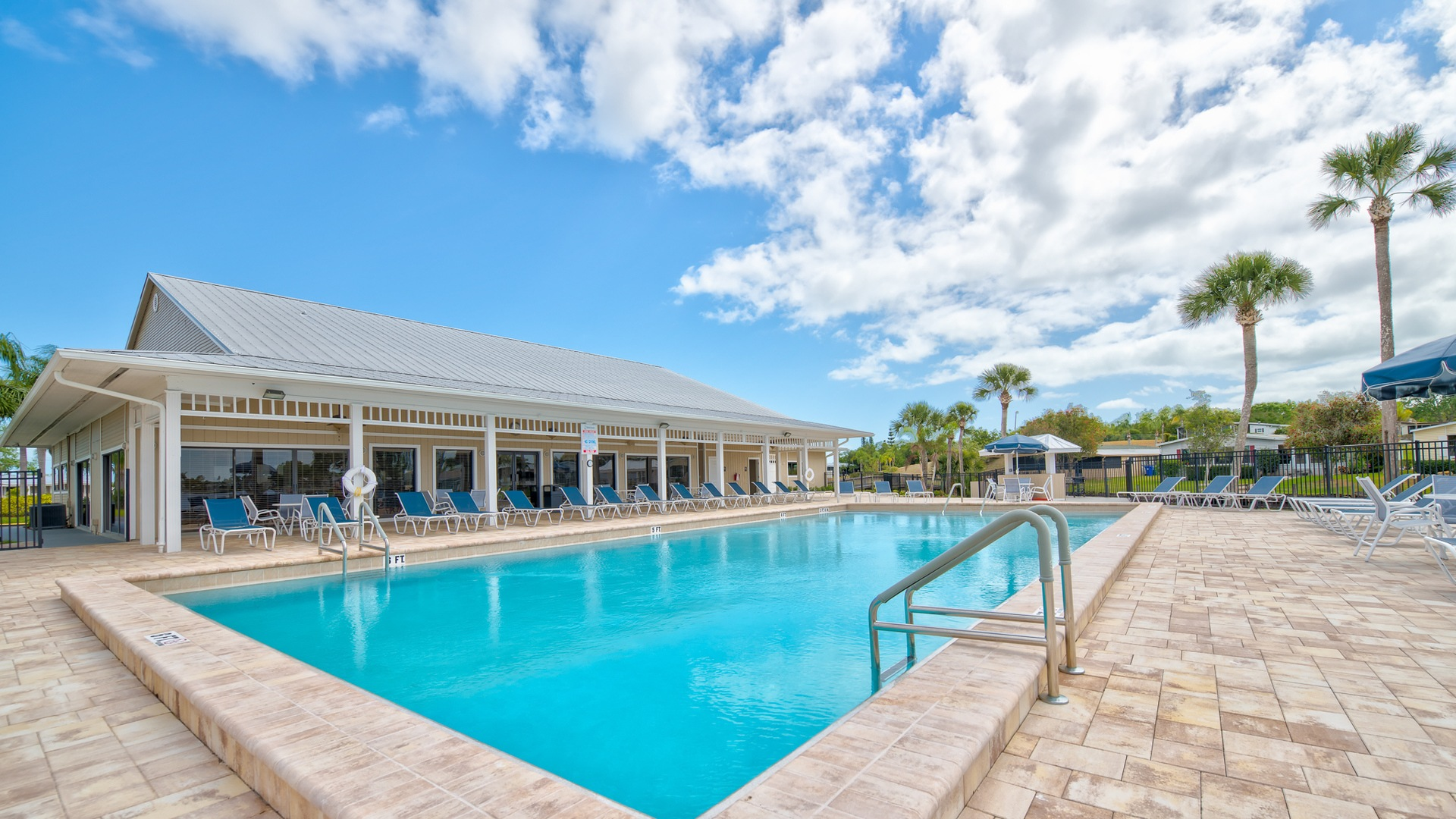 Park Place 55+ Manufactured Homes Community Swimming Pool in Sebastian, FL