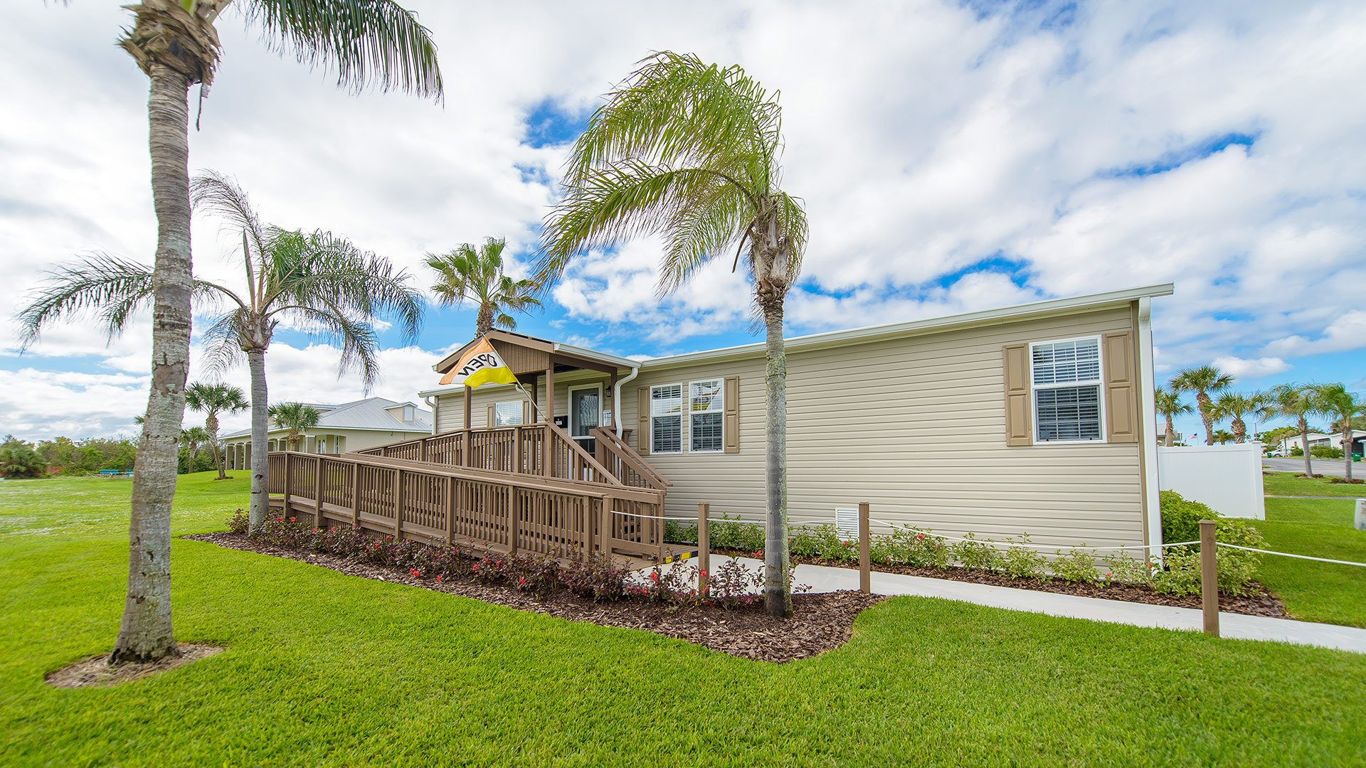 Pelican Bay 55+ Manufactured Homes Community Residential Model in Micco, FL