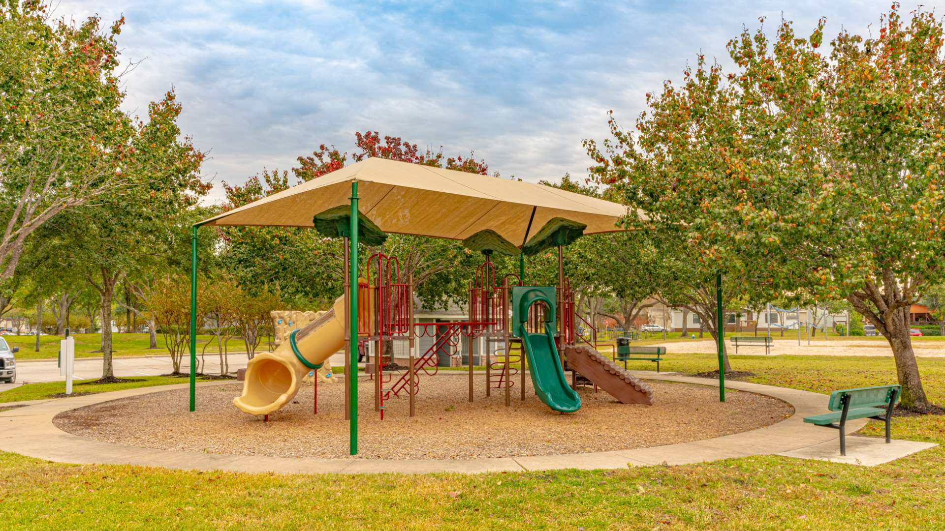 Covered Playground at Pine Trace Manufactured Home Community in Houston TX