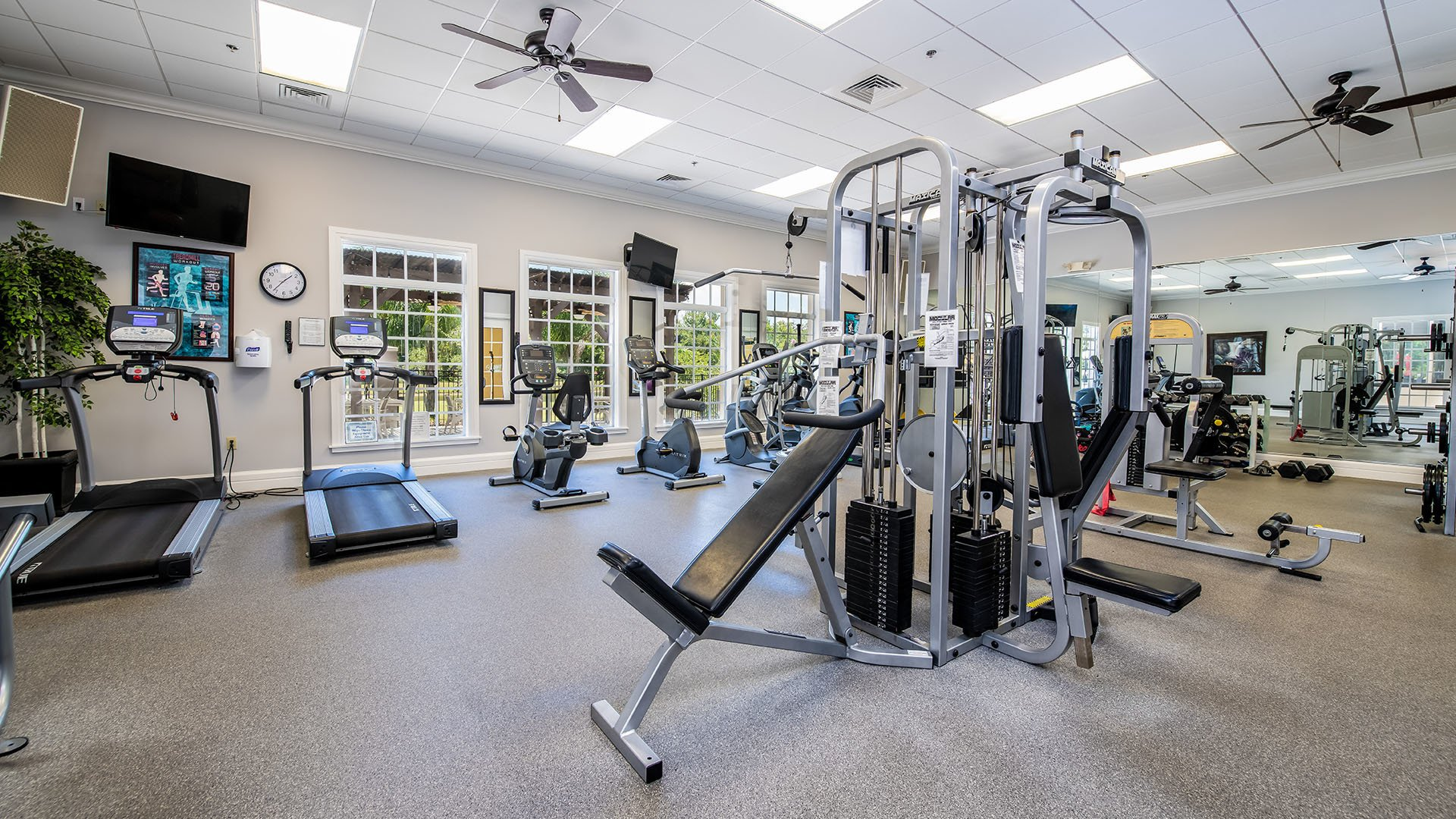 Riverside Club 55+ Golf, Marina and Manufactured Homes Community Fitness Center in Ruskin, FL