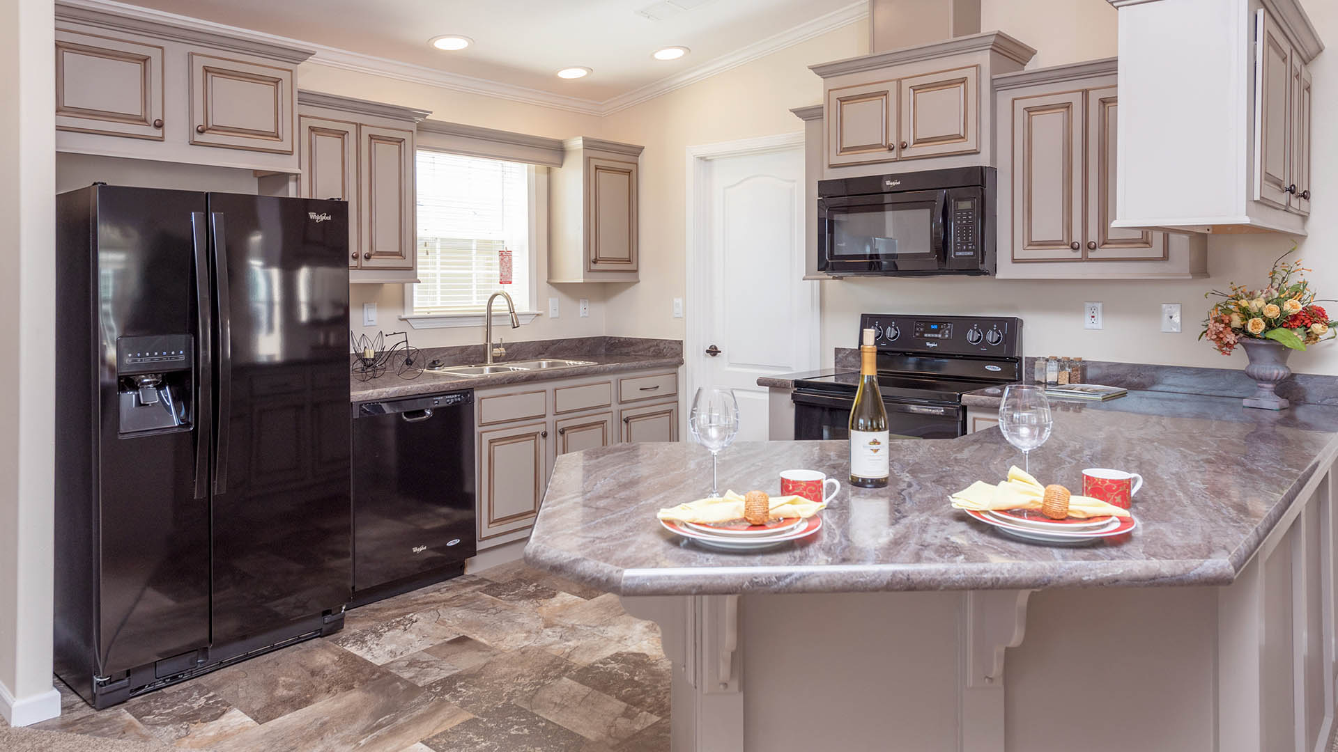 Riverside Club 55+ Golf, Marina and Manufactured Homes Community Residential Kitchen in Ruskin, FL