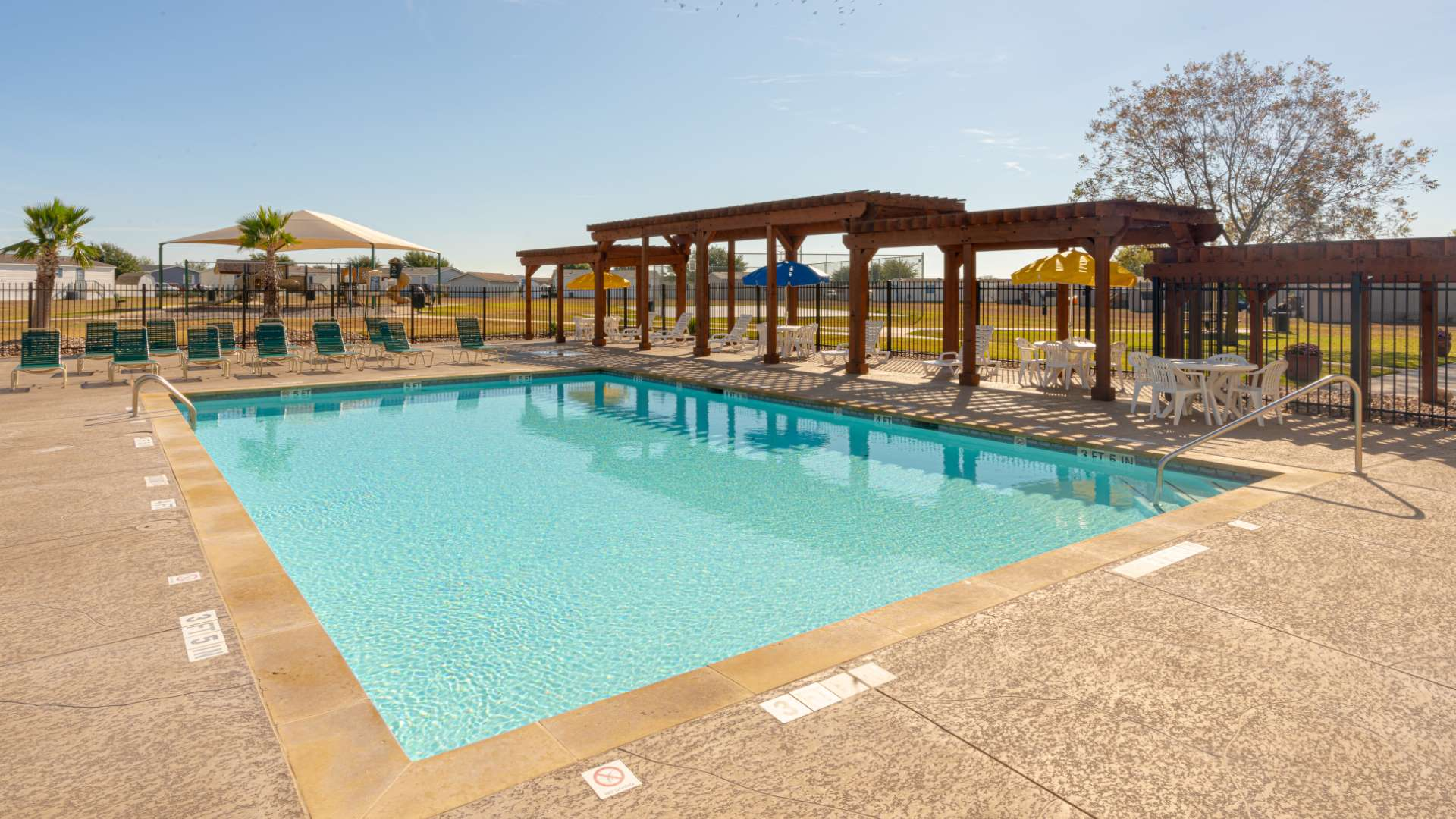 Swimming Pool at Saddlebrook Manufactured Home Community in San Marcos TX