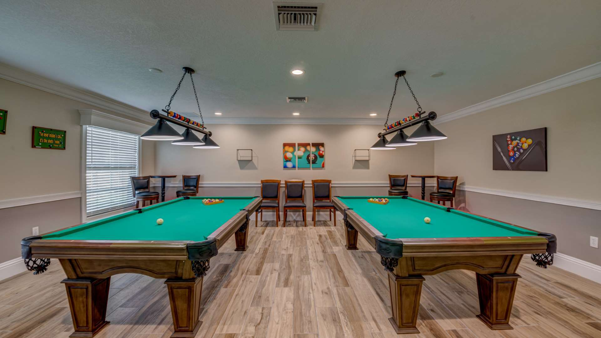Billiards Tables at Shadow Wood Village 55+ Manufactured Home Community in Hudson FL