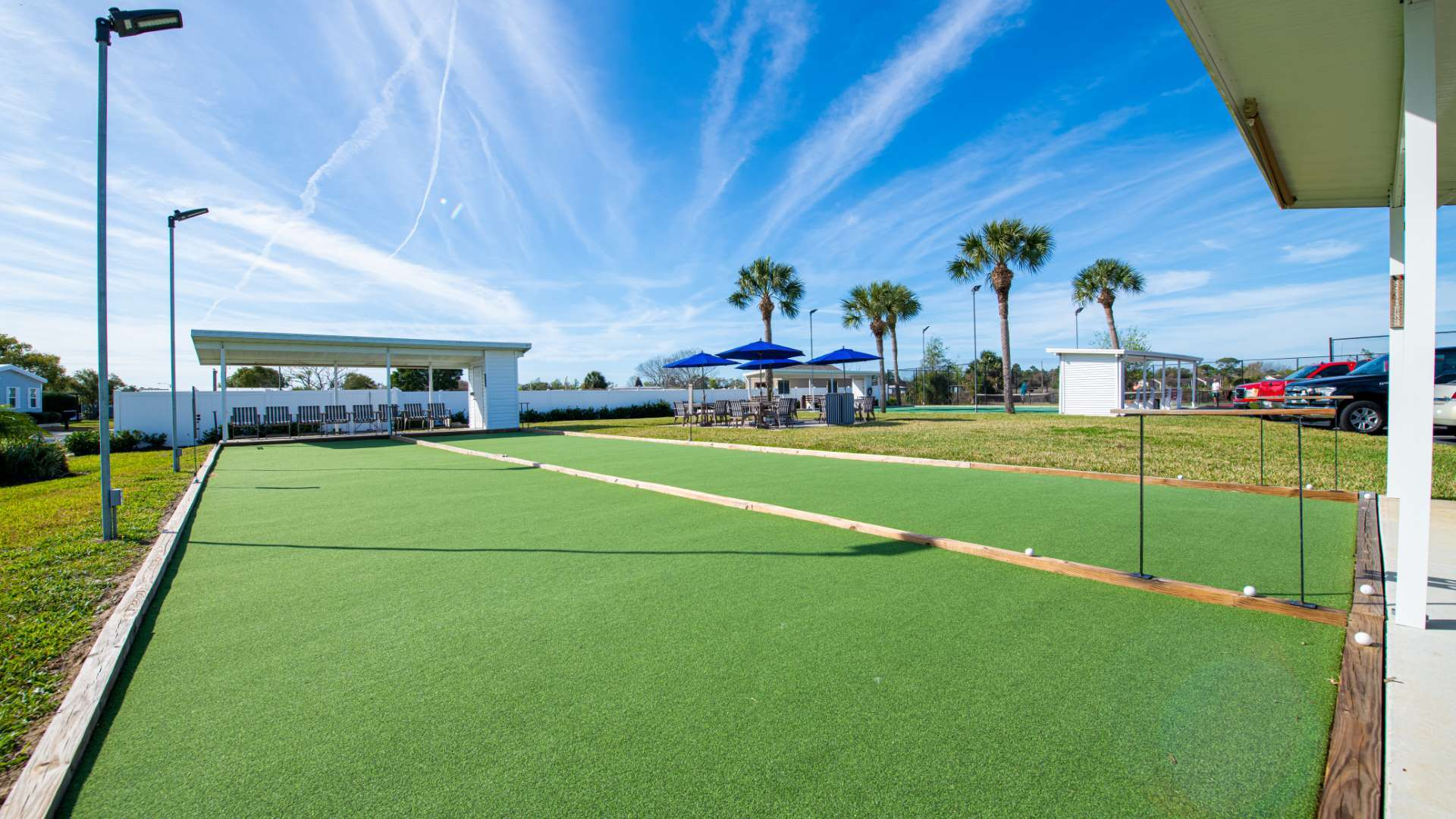 Bocce Ball Courts at Shadow Wood Village 55+ Manufactured Home Community in Hudson FL