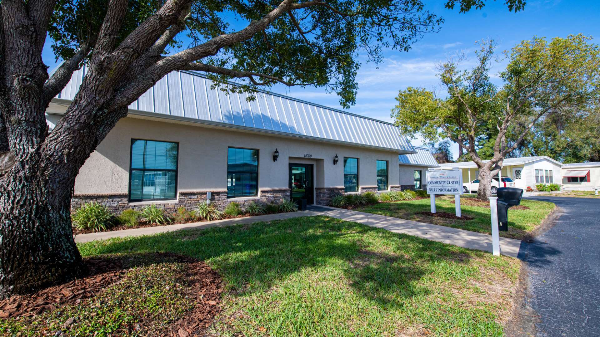 Sales Office at Shadow Wood Village 55+ Manufactured Home Community in Hudson FL