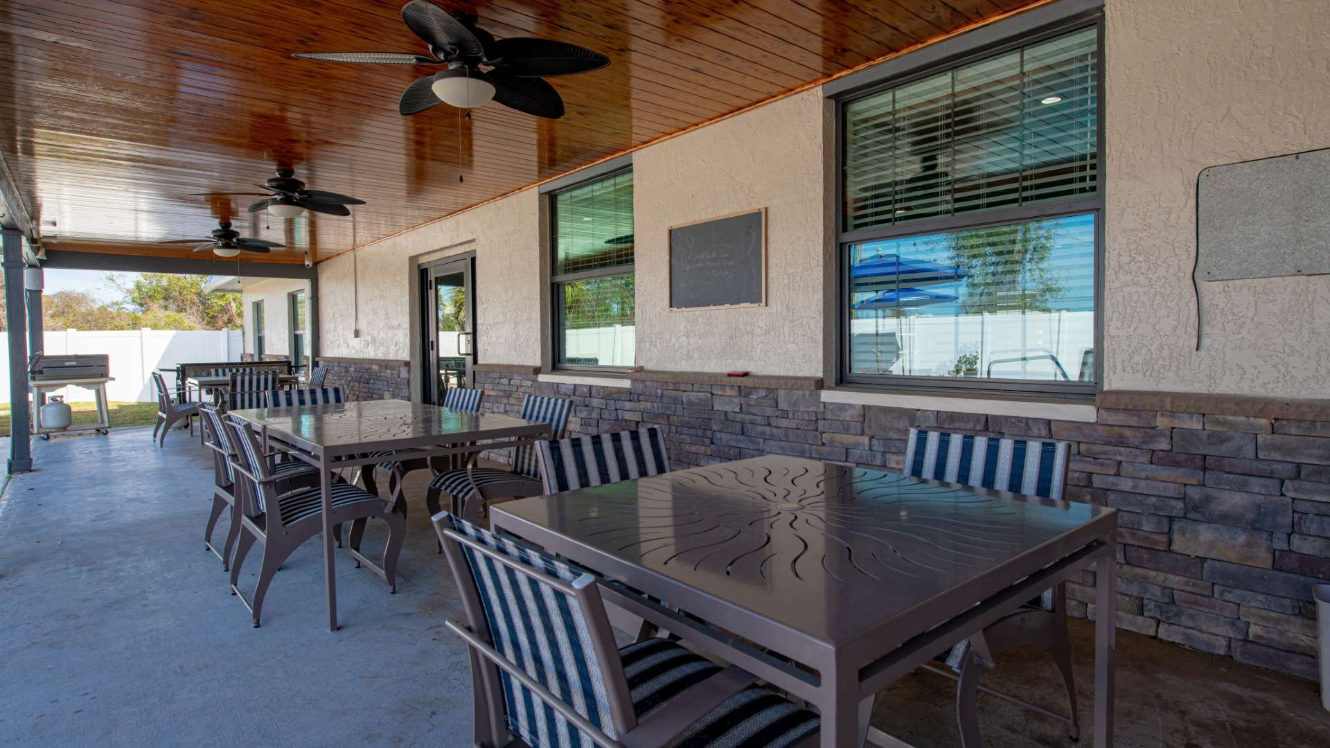 Patio at Shadow Wood Village 55+ Manufactured Home Community in Hudson FL