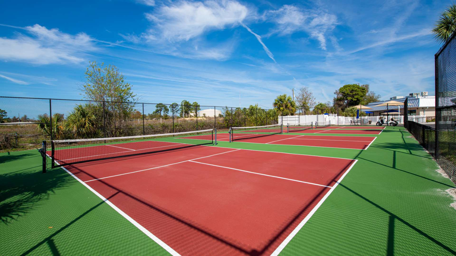 Tennis Courts at Shadow Wood Village 55+ Manufactured Home Community in Hudson FL