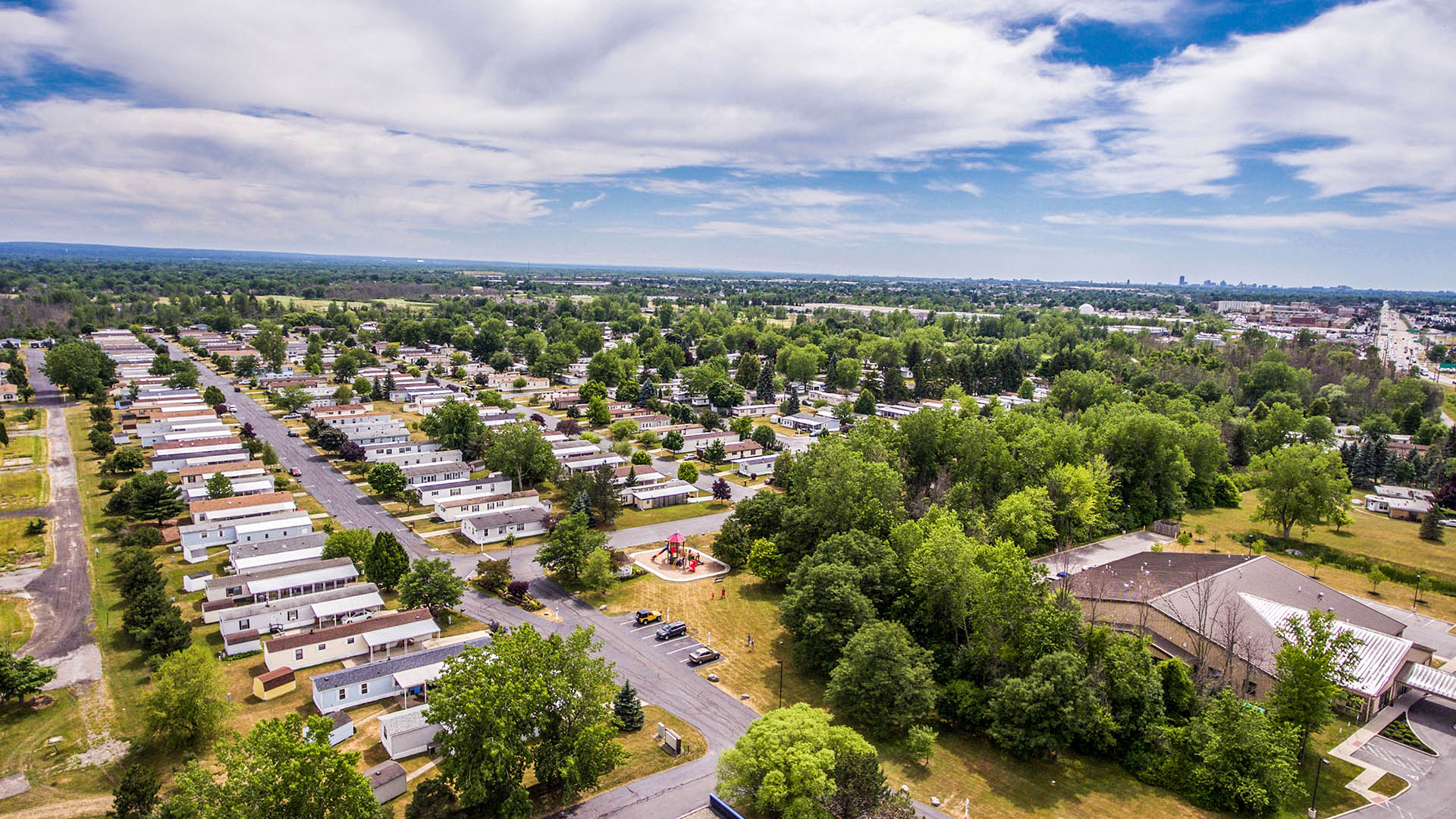 Aerial View of Sky Harbor Manufactured Home Community in Buffalo NY