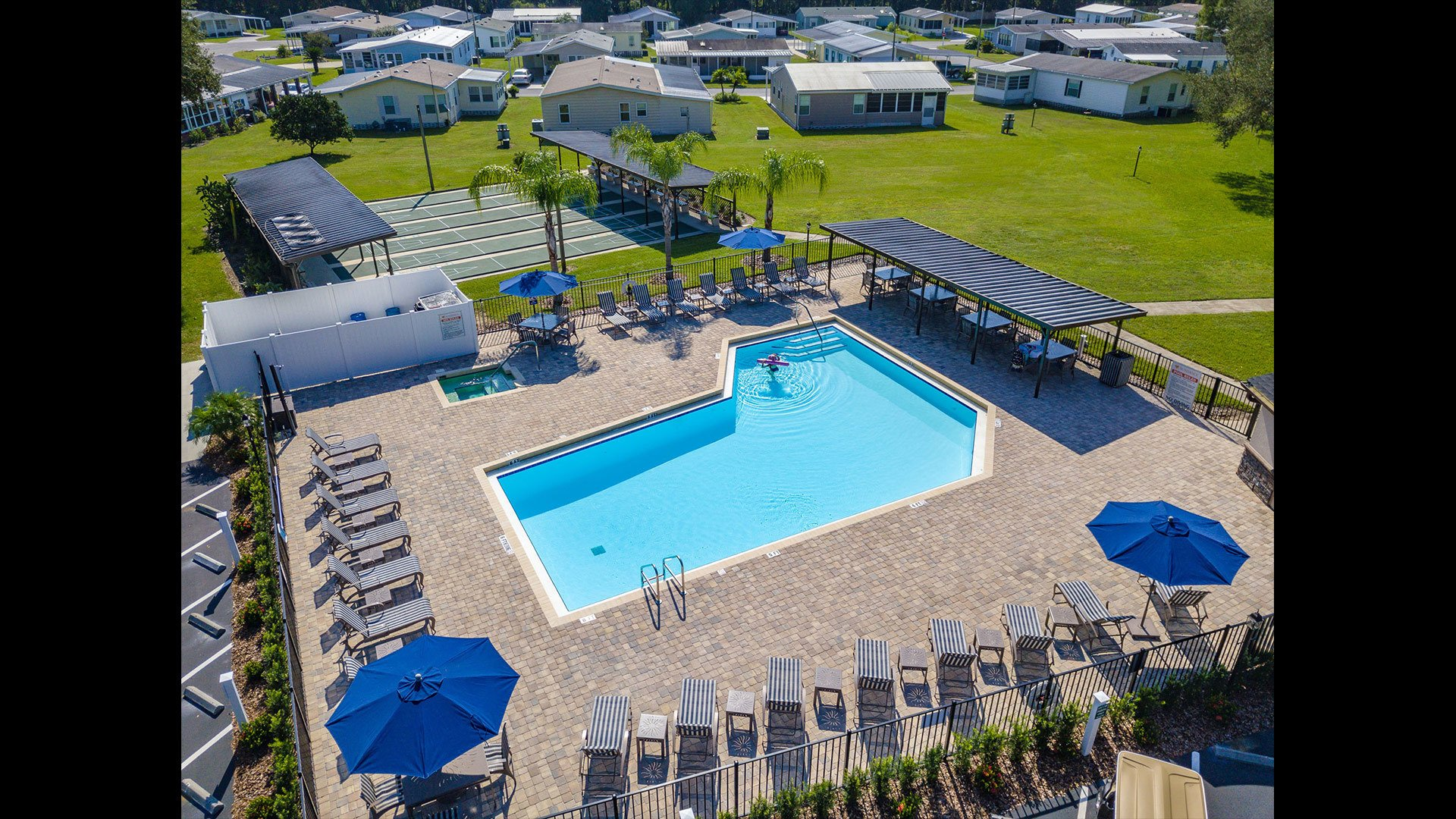 Aerial View of Sundance 55+ Manufactured Home Community in Zephyrhills FL