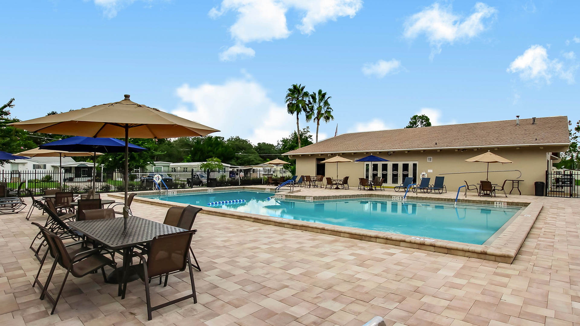 Swimming Pool at Carriage Cove Manufactured Homes Community in Sanford, FL