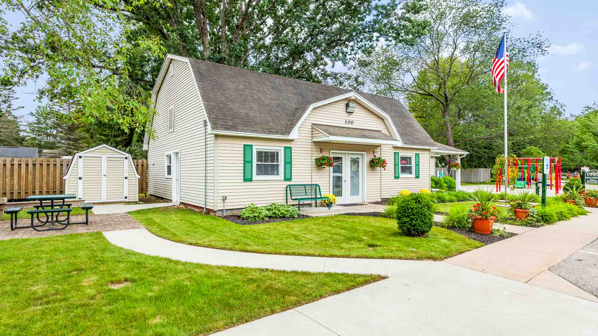 Country Acres Manufactured Homes Community Clubhouse in Cadillac, MI