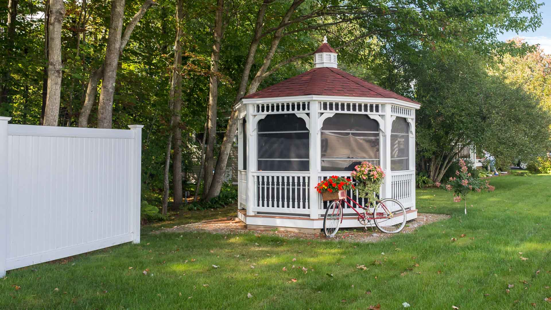 Gazebo at Town and Country Village Manufactured Homes in Lisbon ME