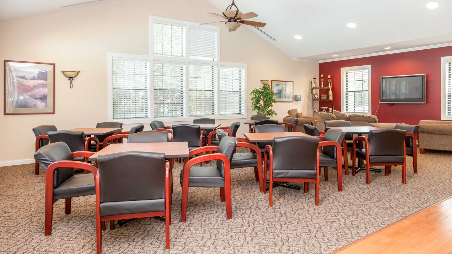Glen Laurel Manufactured Homes Community Clubhouse Interior in Concord, NH