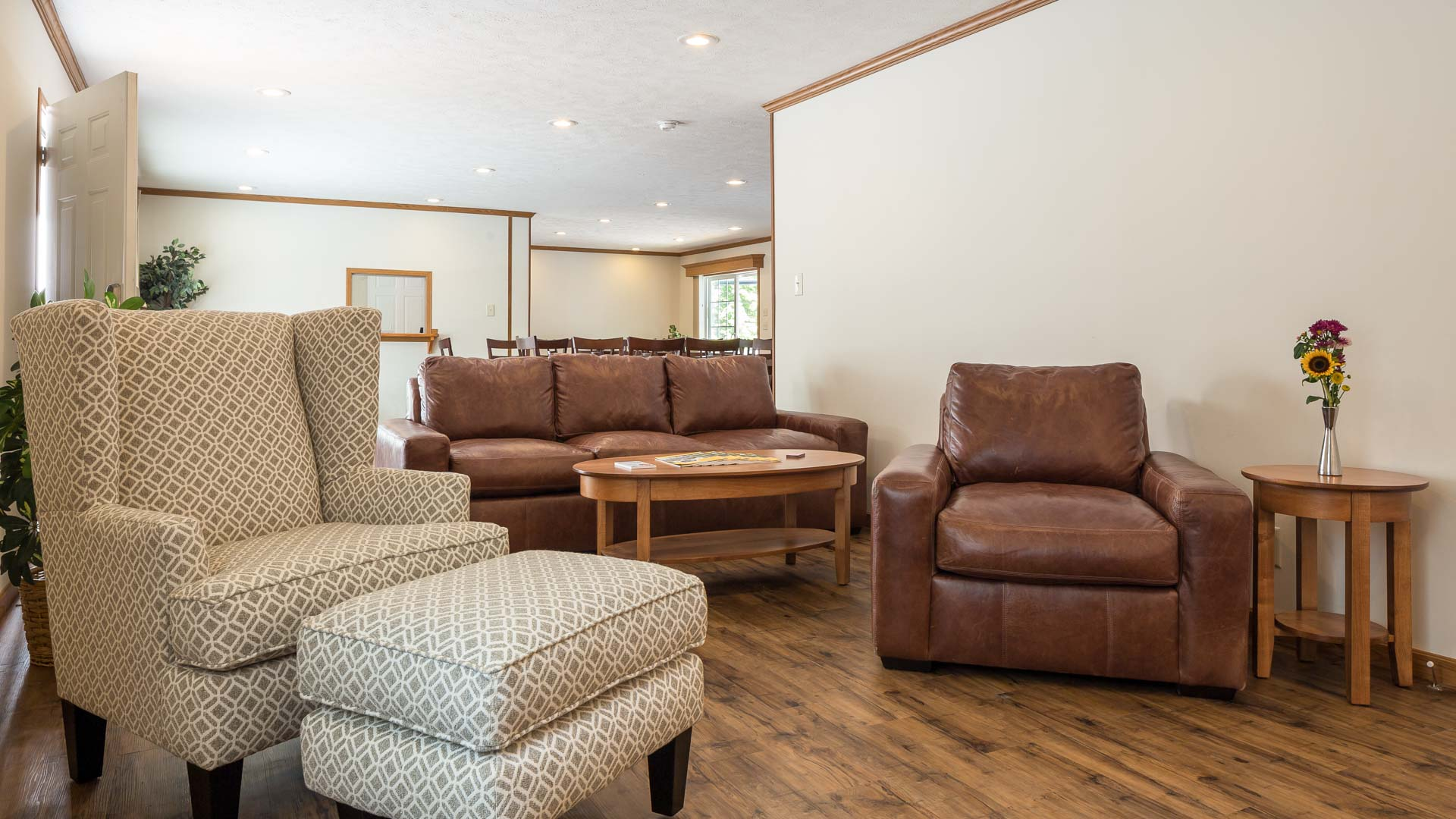 Maplewood Manor Manufactured Homes Community Clubhouse Interior in Brunswick, ME