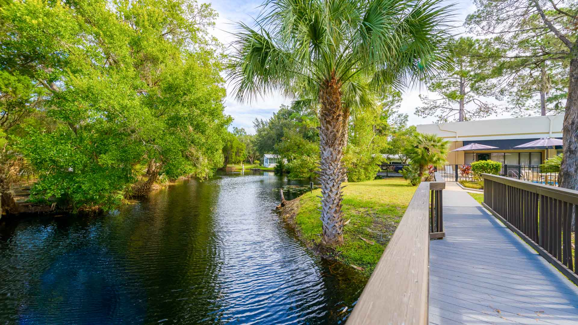 Stonebrook 55+ Manufactured Homes Community Foot Bridge in Homosassa, FL