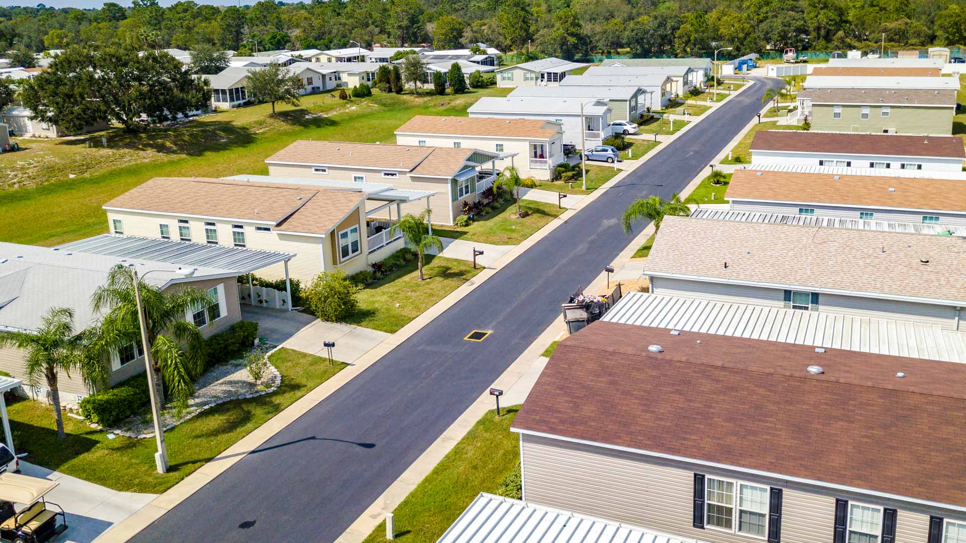 Brentwood Estates 55+ Manufactured Homes Community Aerial View in Hudson, FL