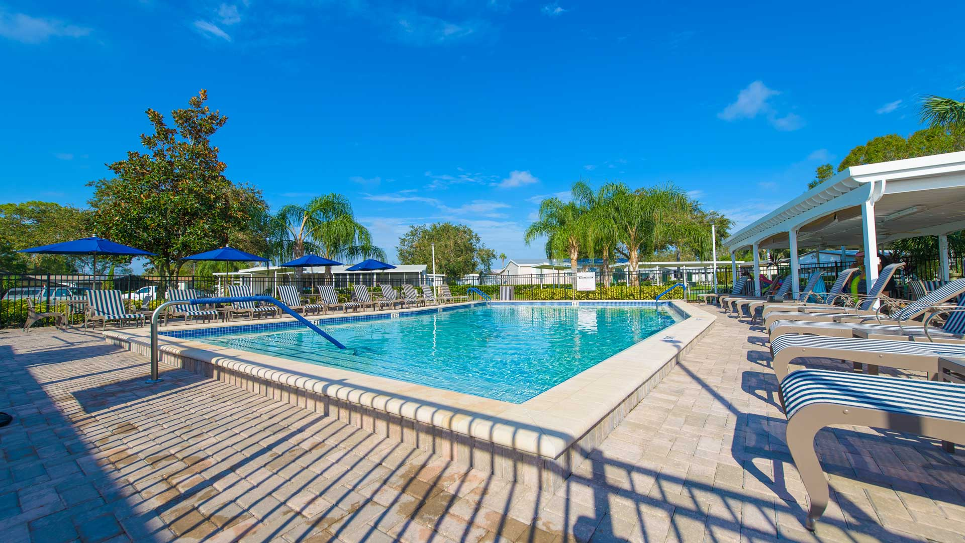Kings Pointe 55+ Manufactured Homes Community Swimming Pool in Lake Alfred, FL