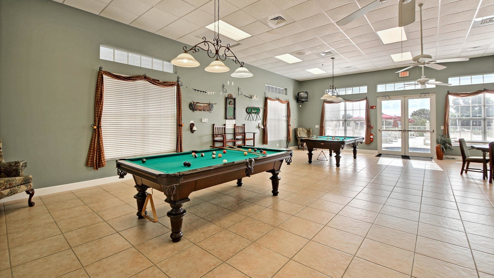 Savanna Club 55+ Manufactured Homes Community Game Room in St. Lucie, FL