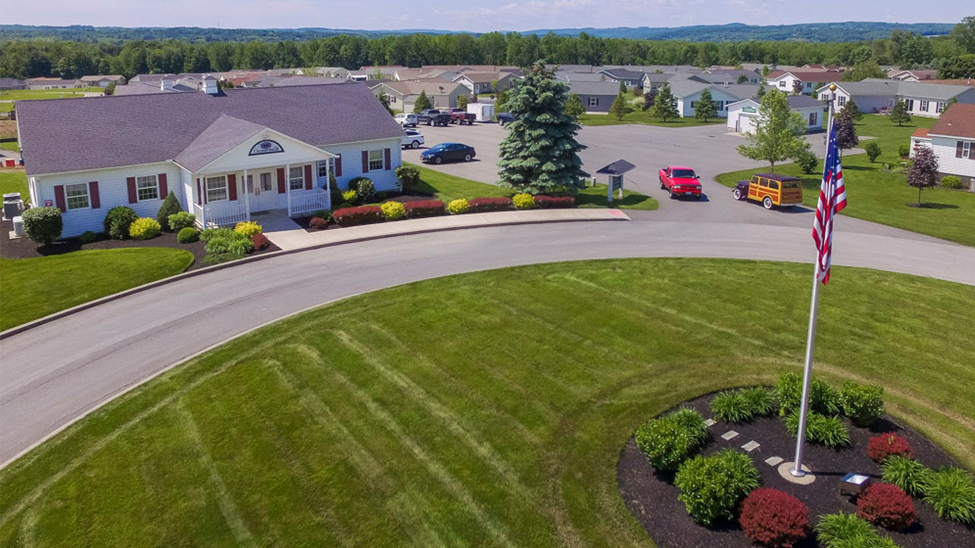 Cherrywood 55+ Manufactured Homes Community Clubhouse in Clinton, NY